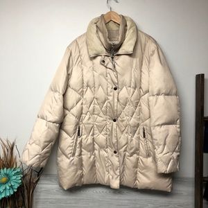 Liz Claiborne Quilted Double Breasted Down Coat